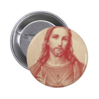 Vintage Sacred Heart of Jesus 6 Cm Round Badge