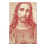 Vintage Sacred Heart of Jesus Custom Stationery