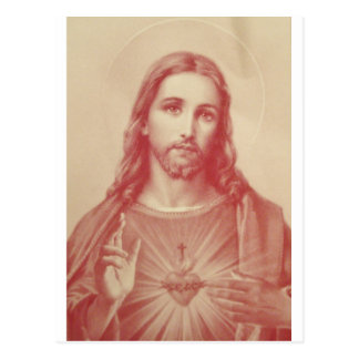 Vintage Sacred Heart of Jesus Postcard