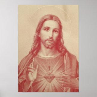 Vintage Sacred Heart of Jesus Poster