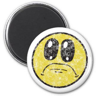 Vintage Sad Smiley Face Cartoon magnet