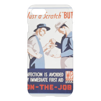 Vintage Safety On the Job First Aid WPA iPhone 7 Case