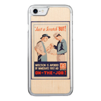 Vintage Safety On the Job First Aid WPA Poster Carved iPhone 8/7 Case