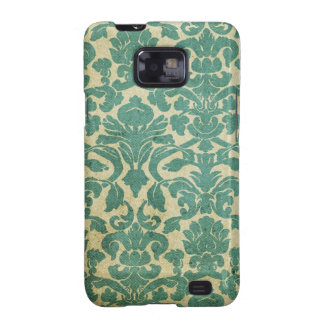 Vintage Sage Green Damask Samsung Galaxy S2 Covers