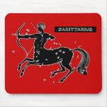 Vintage Sagittarius Mouse Mat