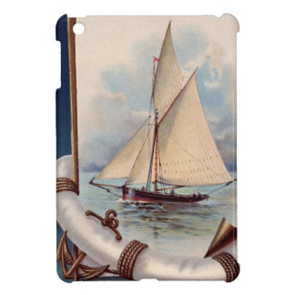 Vintage sail boat with life saver, rope and anchor cover for the iPad mini