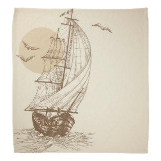 Vintage sailboat bandana