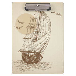 Vintage sailboat clipboard