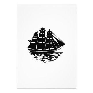 Vintage Sailboat Custom Invite