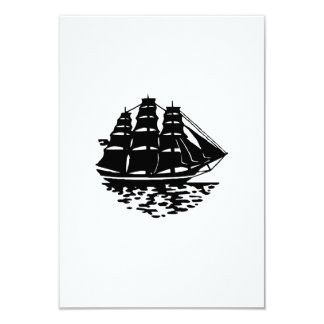 Vintage Sailboat 3.5x5 Paper Invitation Card