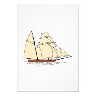 Vintage Sailboat Personalized Invite