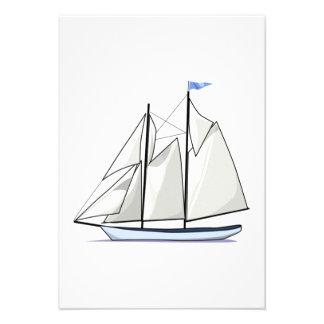 Vintage Sailboat Custom Invitations
