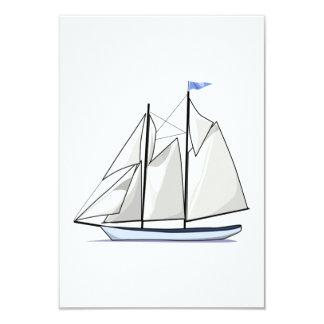 Vintage Sailboat 3.5x5 Paper Invitation Card