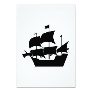 Vintage Sailboat 9 Cm X 13 Cm Invitation Card