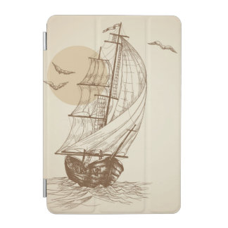 Vintage sailboat iPad mini cover