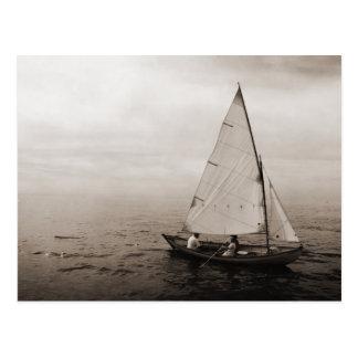 Vintage Sailboat Postcard