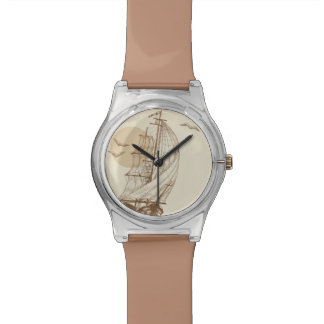 Vintage sailboat wristwatch