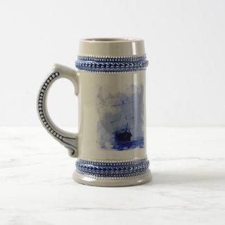 Vintage Sailing Ship Ceramic Tankard Beer Stein