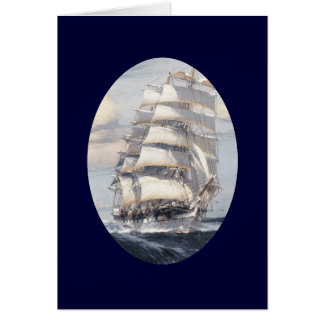 Vintage Sailing Ship Greeting Card