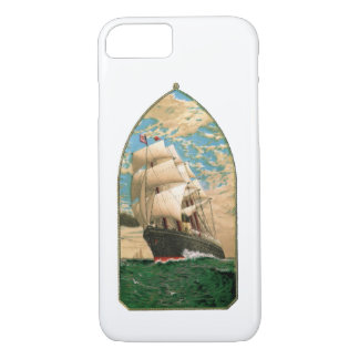 Vintage Sailing ship with American Flag iPhone 8/7 Case
