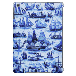 VINTAGE SAILING VESSELS AND SHIPS,Navy Blue iPad Air Cases