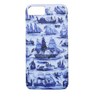 VINTAGE SAILING VESSELS AND SHIPS,Navy Blue iPhone 7 Case