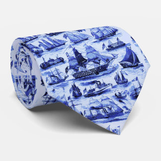 VINTAGE SAILING VESSELS,SHIPS OF VARIOUS NATIONS TIE