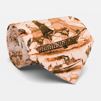 VINTAGE SAILING VESSELS,SHIPS,VARIOUS NATIONS Red Tie