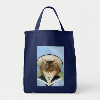 Vintage Sailor Cat Tote Bag