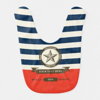 Vintage Sailor Baby Bib