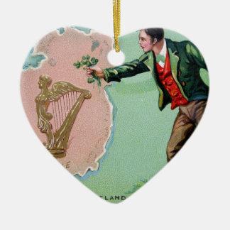 Vintage Saint Patrick's day erin's isle poster Christmas Ornament