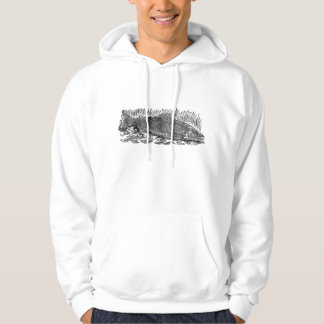 Vintage Salmon Illustration Hoodie