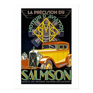 Vintage Salmson Automobile Ad Postcard
