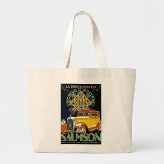 Vintage Salmson Automobile Ad Jumbo Tote Bag