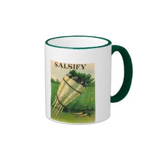 vintage salsify seed packet mug