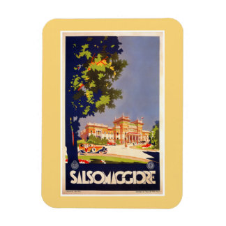Vintage Salsomaggiore Italian travel poster Rectangular Photo Magnet