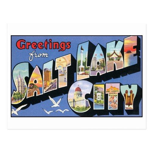 Vintage Salt Lake City Postcard