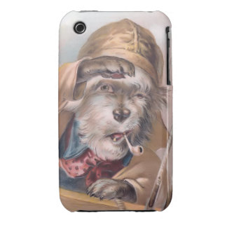 Vintage Salty Sea Dog iPhone 3G Barely-There Case-Mate iPhone 3 Cases