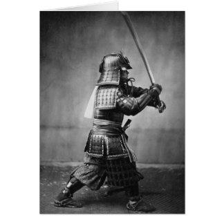 Vintage Samurai Photo Greeting Card