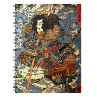 Vintage Samurai Ukiyo-e Japanese Painting Notebooks
