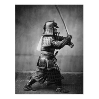 Vintage Samurai with Sword and Dagger Postcard