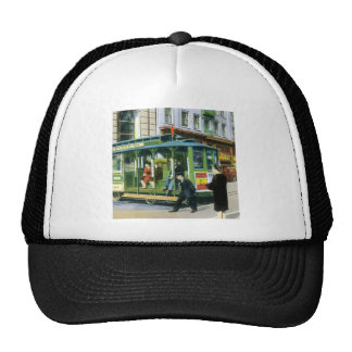 Vintage San Francisco Cable Car Mesh Hats