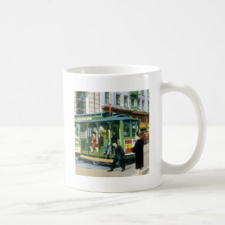 Vintage San Francisco Cable Car Coffee Mugs