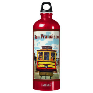 Vintage San Francisco custom name travel bottles SIGG Traveller 1.0L Water Bottle
