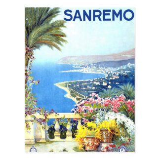 Vintage San Remo Italy Europe Travel Postcard