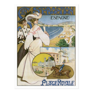 Vintage San Sebastian Spain Post Card