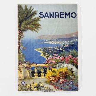 Vintage Sanremo Italy baby blanket
