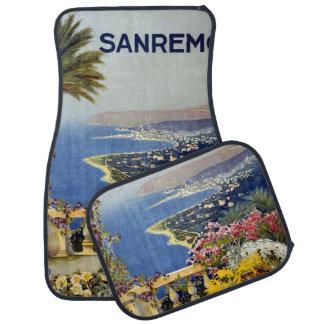 Vintage Sanremo Italy car floor mats