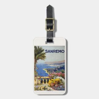 Vintage Sanremo Italy custom luggage tag
