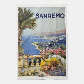 Vintage Sanremo Italy hand towel